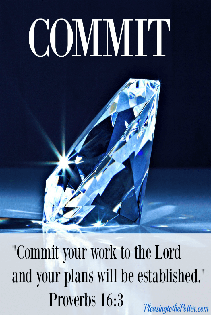 Commit your work to the Lord and your plans will be established. Proverbs 16 3