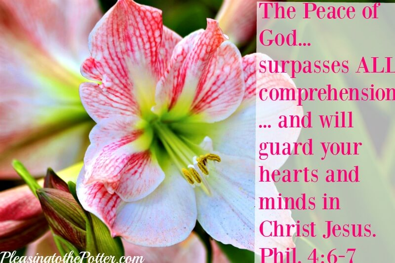 The Peace of God surpasses all comprehension