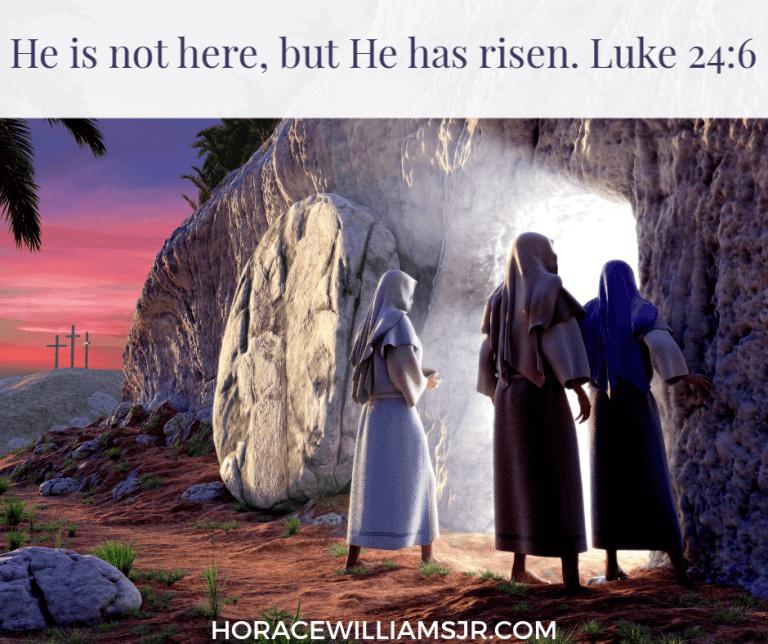 Jesus is no longer on the cross. He is risen!