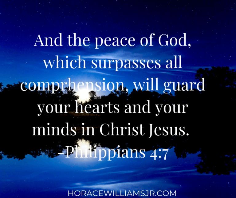 Seasons of Change: The Peace of God Philippians 4:7